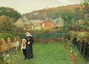 Home Paintings - The Widow by Charles Napier Hemy