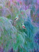 Purple Digital Art Originals - The Willows by Adele Moscaritolo