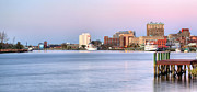Wilmington Nc Posters - The Wilmington Skyline Poster by JC Findley