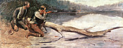 Gun Painting Posters - The Winchester Poster by Frederic Remington