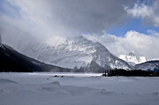 Snow-covered Landscape Framed Prints - The Wind Whips Up The Snow Framed Print by Zoltan Kenwell