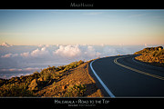 Asphalt Framed Prints - The Winding Road to the Top of Haleakala - Maui Hawaii Posters Series Framed Print by Denis Dore