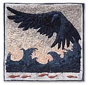 Black Tapestries - Textiles - The Windmaker by Lorraine Roy