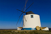 Mediterranean Landscape Framed Prints - The Windmill Framed Print by Heiko Koehrer-Wagner