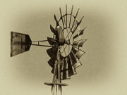 Weather Vane Prints - The Windmills of My Mind Print by Bill Cannon