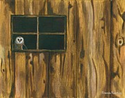 Shed Painting Posters - The Window Poster by Brenda Rowe