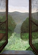 Cabin Window Paintings - The Window by Reb Frost