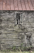 Haunted Houses Photo Posters - The Window up Above Poster by JC Findley