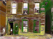 Black History Mixed Media - The Windows by Charles Shoup