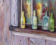 Wooden Cabin Paintings - The Windowsill by Diane Daigle