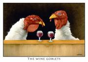 Humorous Paintings - The Wine Goblets... by Will Bullas
