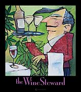 Towel Digital Art - The Wine Steward - poster by Tim Nyberg