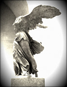Old Mills Photos - The Winged Victory - Paris Louvre by Marianna Mills