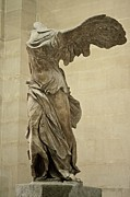 Statues Framed Prints - The Winged Victory of Samothrace Framed Print by Chris Brewington 