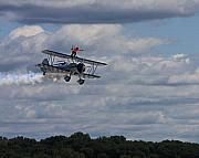 Stearman Prints - The Wingwalker Print by Dave Clark  Photography