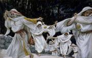 Gouache Paintings - The Wise Virgins by Tissot