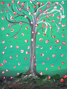 Wishes Posters - The Wishing Tree Poster by Alys Caviness-Gober