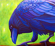Raven Paintings - The Witness by Brian  Commerford