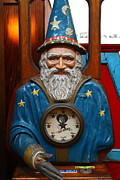 Wizard Photos - The Wizard At The Musee Mecanique At Fishermans Wharf . San Francisco CA . 7D14402 by Wingsdomain Art and Photography