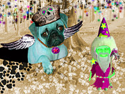 Cute Dogs Digital Art - The Wizard Gnome of the forest by Tisha McGee