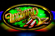 Wizard Of Oz Photos - The Wizard of Oz Casino Sign by David Patterson