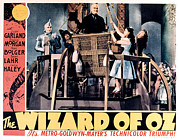 Lobbycard Photo Framed Prints - The Wizard Of Oz, Jack Haley, Ray Framed Print by Everett