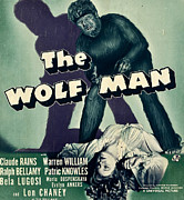 Horror Movies Photos - The Wolf Man, From Top Lon Chaney Jr by Everett