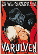 Wolfman Framed Prints - The Wolfman, Aka Varulven, Lon Chaney Framed Print by Everett