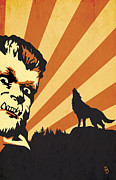 Halloween Posters - The Wolfman Poster by Dave Drake