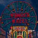 Amusements Prints - The Wonder Wheel at Luna Park Print by Chris Lord