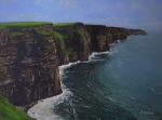 Cliffs Paintings - The Wonderful Cliffs Of Moher by Eamon Doyle