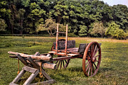 English Country Art Prints - The Wooden Cart Print by Paul Ward