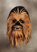 Chewbacca Prints - The Wookiee Print by Michael Greenaway