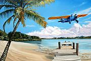 Airplane Paintings - The Woolaroc by Kenneth Young