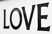 No Love Posters - The Word Of Love Poster by Johnnie Pakington