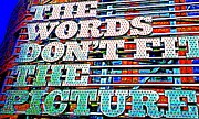 Fit Prints - The Words Print by Randall Weidner