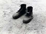 1930s Candid Photos - The Work Boots Of Foyd Burroughs by Everett