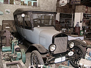 Ford Model T Car Prints - The Workshop Print by Douglas Barnard
