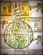 Financial Mixed Media - The World Is Money by Paulo Zerbato