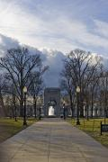 National Landmark Prints - The World War Ii Memorial Print by Hannele Lahti