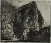 Pre-19th Prints - The Worlds Largest Water Wheel Powered Print by Everett