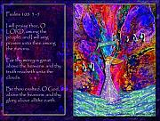 Restoration Digital Art Prints - The worshipping heart and the Anointing of Colors Print by Cassandra Donnelly