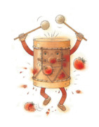 Drum Metal Prints - The worst musician Metal Print by Kestutis Kasparavicius