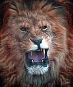 Lions Digital Art Framed Prints - The Wrath To Come Framed Print by Bill Stephens