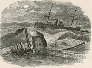 31st Prints - The Wreck Of The Ironclad Monitor, 1862 Print by Photo Researchers