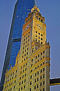 Chicago Digital Art Metal Prints - The Wrigley Building Metal Print by Mary Machare