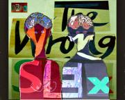 Sketchbook Mixed Media Prints - The Wrong Sex Print by Yulonda Rios