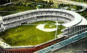 Baseball Stadiums Framed Prints - The Yankees Polo Grounds In New York City In The 1920s Framed Print by Dwight Goss