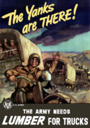 Wwii Propaganda Digital Art - The Yanks Are There by War Is Hell Store
