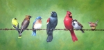 Birds Painting Originals - The Yardbirds by Kerry Trout